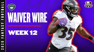 2020 Fantasy Football Rankings - Week 12 Top Waiver Wire Players To Target - Fantasy Football Advice