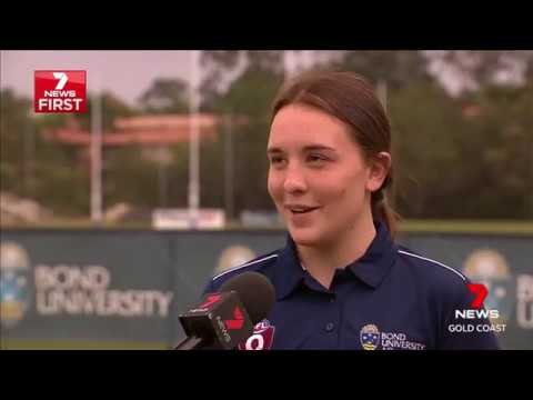 Robina State High School's Arianna Clarke announced as a AFLW Brisbane Lion for 2018!