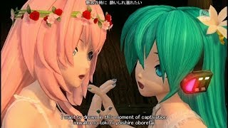 Repeat youtube video [60fps Full風] Magnet マグネット-Hatsune Miku Megurine Luka 初音ミク 巡音ルカ DIVA English lyrics romaji subtitles