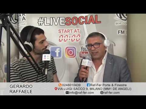 #livesocial Radio Lombardia: intervista a Gerardo Raffaele, titolare Raf-Fer Porte Finestre Milano