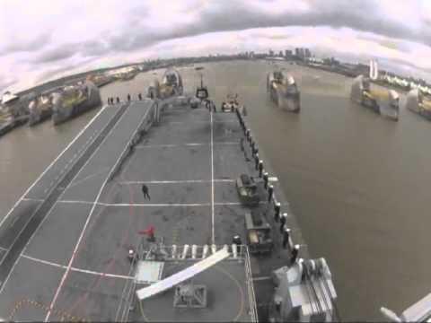 HMS Illustrious River Thames Transit