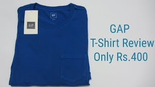 GAP Crew Neck Pocket T-Shirt Buy From NNOW COM Review In Hindi 2018