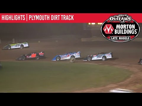 World of Outlaws Morton Buildings Late Model Series Feature Event Highlights from Plymouth Dirt Track in Plymouth, Wisconsin on July 29th, 2019. To view the ... - dirt track racing video image