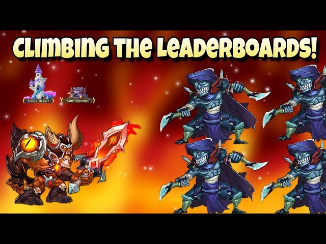 Idle Heroes (O3) - Climbing The Leaderboards! - Aspen Dungeon and ToO Push