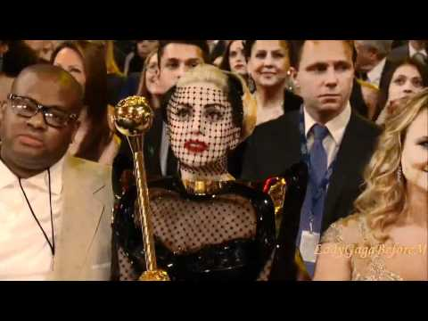Lady Gaga with Gold Scepter Grammy
