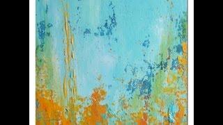 Repeat youtube video Acrylic Painting Demo Acrylmalerei Spachtelarbeit Spackling