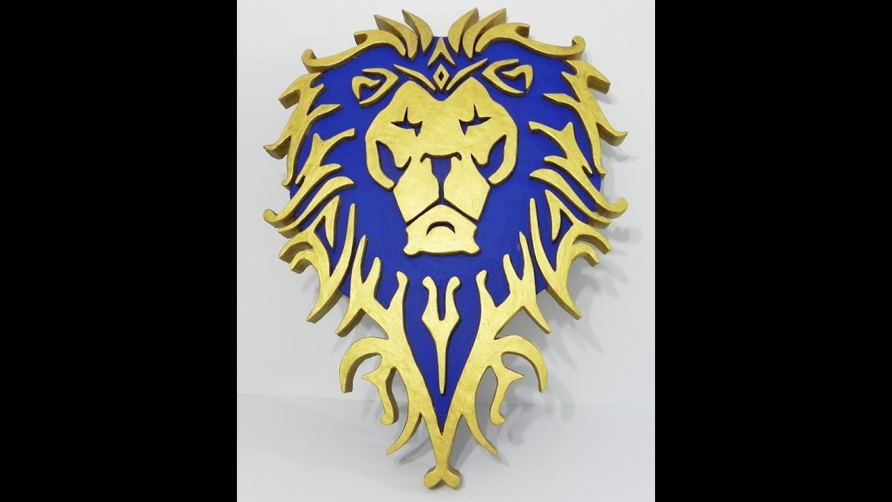 Alliance logo World of Warcraft wall art - YouTube