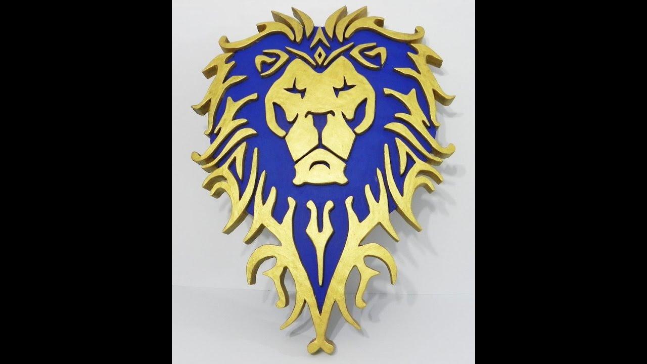 Alliance logo World of Warcraft wall art - YouTube