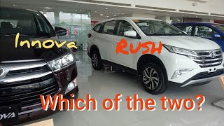 COMPARISON VERSUS 2018 INNOVA AND RUSH | EXTERIOR ONLY