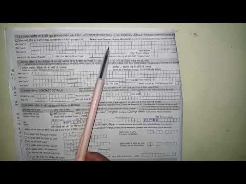 How to fill Indian Overseas Bank Account Opening Form:: fully explained