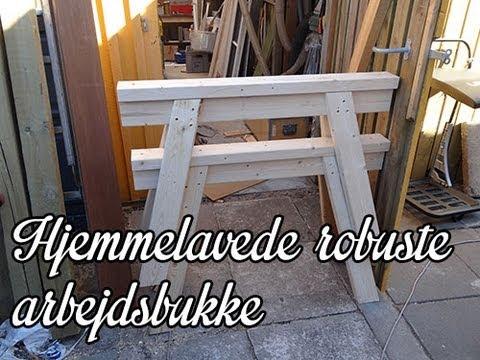 Diy / hjemmelavede arbejdsbukke i træ   youtube