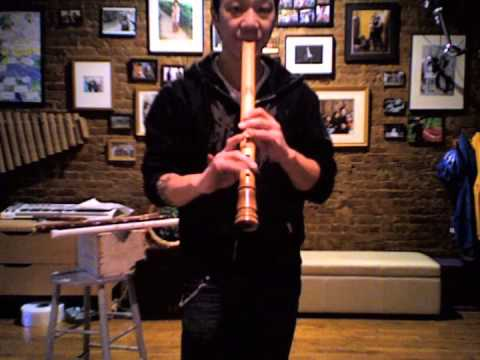 Plastic PVC, Wood and Bamboo Shakuhachi Flute Demonstration