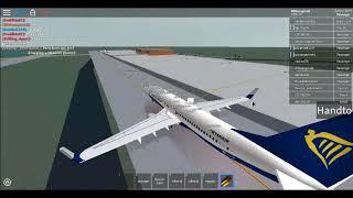 VIDÉO d'atterrissage de ROBLOX ryanair. Je ne sais pas si c'est dur ou pas.