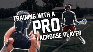 Training with a PRO Lacrosse Player
