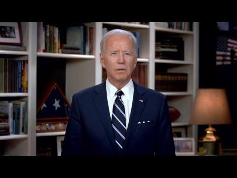 Democratic nominee Joe Biden addresses George Floyd's 6-year-old daughter in emotional funeral video