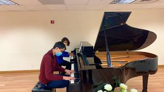 SMAA Student Andrew Seel & Teacher Anh Rozman play E. Grieg Concerto in A minor, op. 16