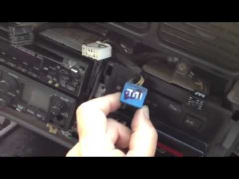 Land Cruiser Radio Wiring Diagram 1999 Ford F350 Remove Dash Cd Player Toyota 1994 80 Ser Youtube