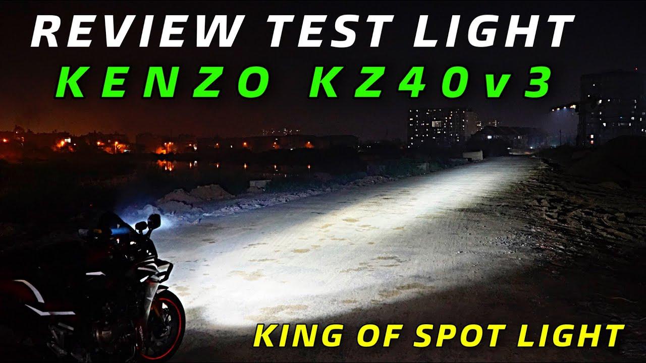 REIVEW KENZO KZ40V3 TEST LIGHT | so sáng độ sáng với KZ40v2 tiền nhiệm | cú đấm xuyên màn đêm PhẦn 2