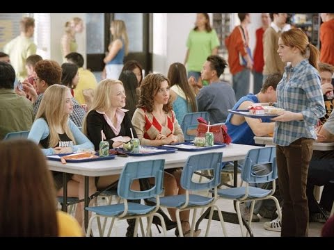 school lunch table. The Narcissist Mother Is A Cheerleader Sitting At School Lunch Table