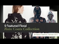 9 Featured Floral Rain Coats Collection Amazon Fashion, Winter 2017