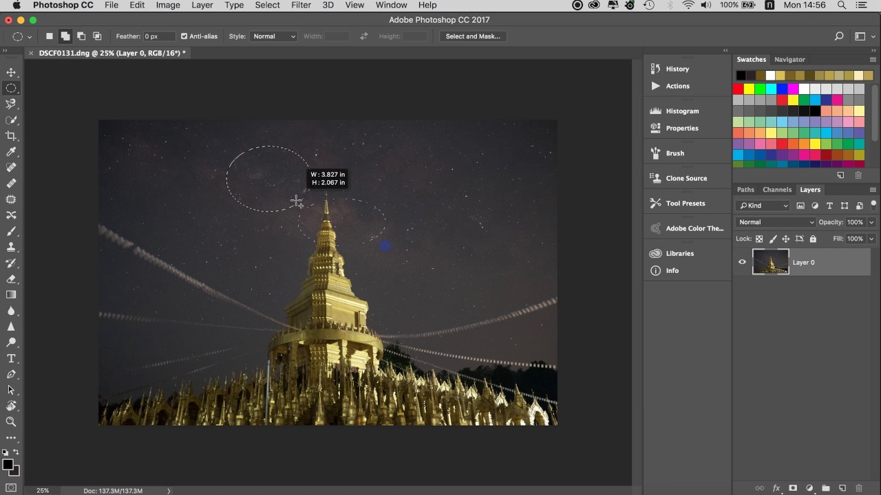 how to use rectangular marquee tool in photoshop cc