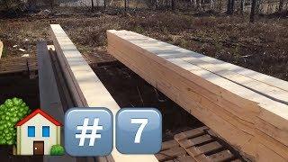 #7 Пилим стропила. Как сделать односкатную крышу. Строим каркасный дом самостоятельно своими руками.
