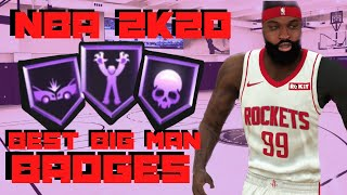 NBA 2K20 HOW TO DUNK EVERYTIME BEST BADGES AS A BIG MAN ( ANIMATIONS INCLUDED) + TUTORIAL