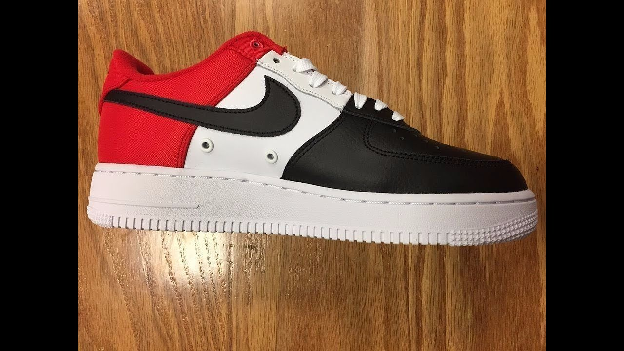 promo code b24cb 8c293 Flash Look At The Air force 1 Mini Swoosh Red White Black 823511-603