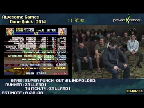 Super Punch-Out!! Blindfolded Speed Run Live (0:24:09) [SNES] by Zallard1 #AGDQ 2014