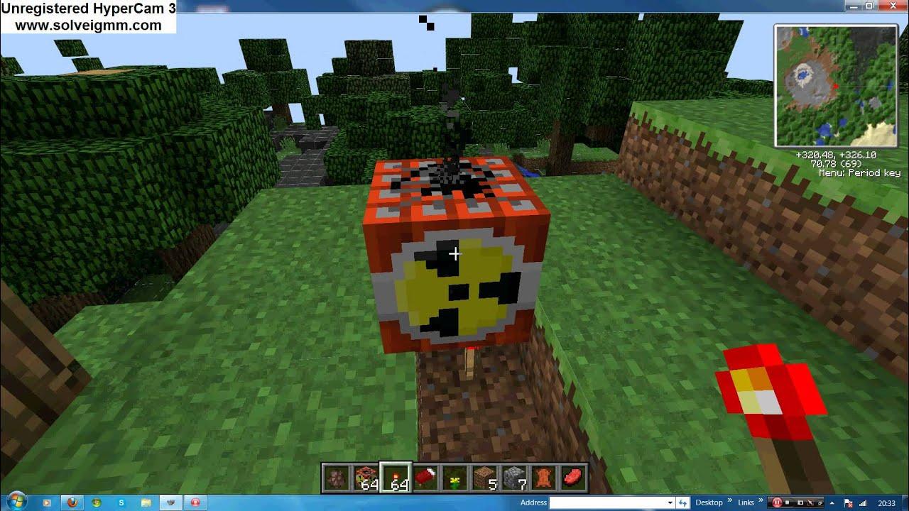 How To Detonate A Nuke On Minecraft Youtube