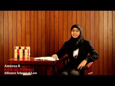 Alliance University Bangalore | Law Testimonial - 1