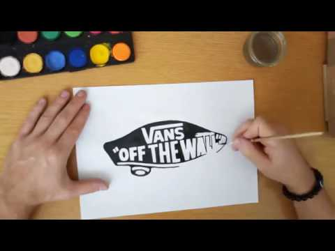 How to draw a Vans logo - Vans off the wall - DIY Vans logo.