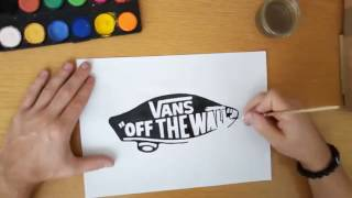 How to draw the Vans logo - Vans off the wall