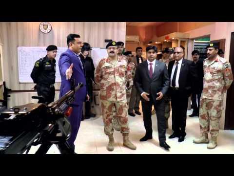 DG Rangers Sindh, Major General Bilal Akbar visits Special Security Unit - SSU HQ  01.03.2016.