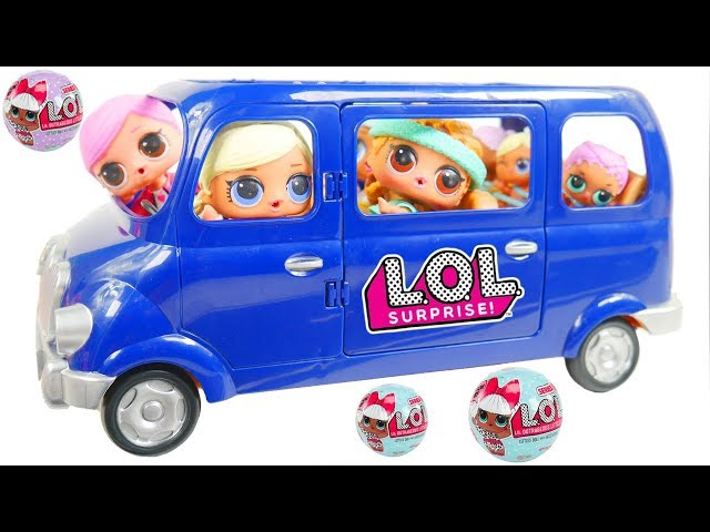 LOL Surprise Dolls + Lil Sisters in New Van