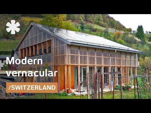 Translucent Swiss barn-modern home regulates views & climate