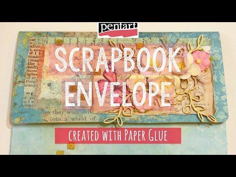 Scrapbook boríték papírragasztóval // Scrapbook envelope created with Paper Glue