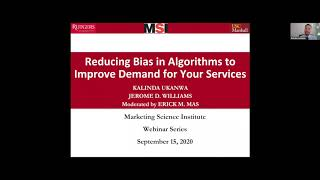 MSI Webinar: Reducing Bias in Algorithms to Improve Demand for Your Services
