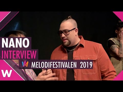 "Nano ""Chasing Rivers"" Interview @ Melodifestivalen 2019 
