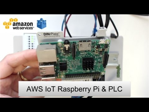 Amazon Web Services (AWS) IoT MQTT Node-RED Raspberry Pi & PLC