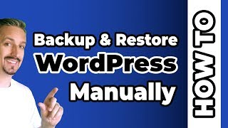 How to Backup & Restore Your WordPress Site  ⚠️
