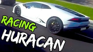 SAVAGE LAMBORGHINI HURACAN VS BMW S1000RR!! SUPERCAR VS SUPERBIKE