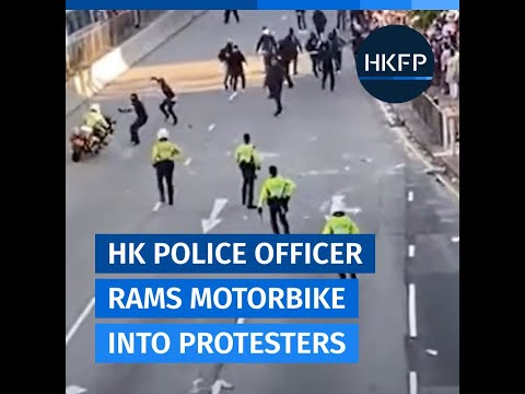 New Footage Emerges Of Hong Kong Motorcycle Cop Ramming Into Crowd Of Protesters