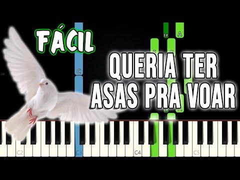 Queria Ter Asas Pra Voar (Asas Feridas) Hino Avulso CCB | VERSÃO FÁCIL | Piano E Teclado Tutorial