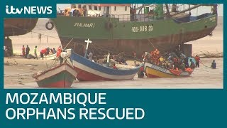 Mozambique orphans of Cyclone Idai escaping floods in Dunkirk style evacuations | ITV News