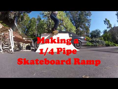 DIY BUILD a Skateboard Quarter Pipe Ramp