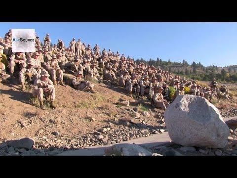 US Marines Training at Marine Corps Mountain Warfare Training Center, Bridgeport, California