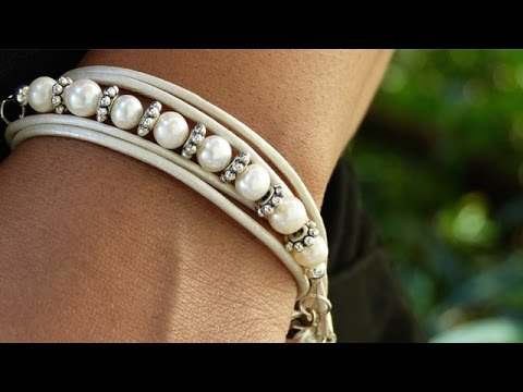 Diy Leather Bracelet Tutorial