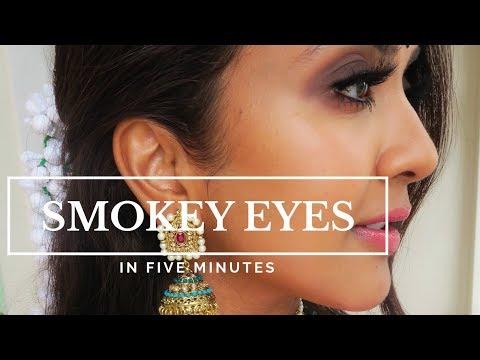 Smokey Eyes In 5 Minutes | Vithya Hair And Makeup