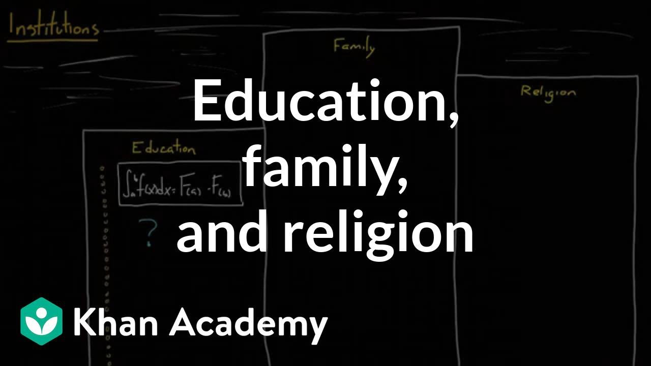 Social Institutions Education Family And Religion Video